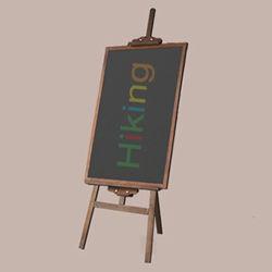 木の黒板の黒板を広告する屋内子供の黒板