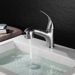 Badkamer Spoelkraan met uittrekbaar spuitapparaat Eengreepbassin Mengkraan, toiletpot, Sink-kraan