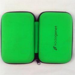 Зеленый провод фиолетового цвета кожи Логотип инструменте EVA кейс для переноски