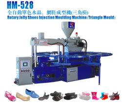 Hm-528 cristal en PVC et de la gelée de chaussures la machine de moulage