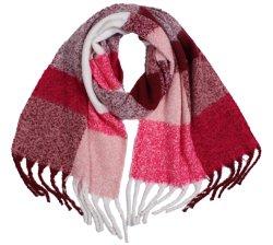 Sciarpa delle bande tessuta sciarpe calde lanuginose del progettista delle donne per l'inverno di autunno