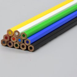 Супер качества канцелярские глянцевая шестигранной головки на 7 дюйма 12 ПК мягкий ведет карандашом цвета ножкой зуба в поле бумаги для печати