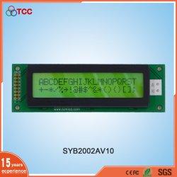 널리 사용되는 노란색-녹색 디스플레이 20X2 LCD 2002 문자 흑백 20 * 2 LCD 화면