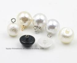 De ronde (wit/Zwarte) Knoop van de Parel van de Sweater van de Paddestoel DIY Materiële Plastic