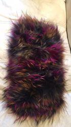 Kraag van het Bont van de Wasbeer van de Verkoop van de fabriek de Directe/Elastische Netto/muti-Kleur