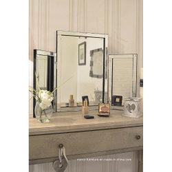De moderne Venetiaanse 3D Spiegel van de Toilettafel van de Spiegel van het Huis van het Frame Drievoudige