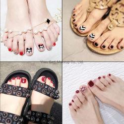 500pcs Natural de la moda francesa de acrílico pedicura uñas pies Toe falso falso parche uña