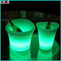 Multi-Color LED LED Cubo de Hielo Portabotellines