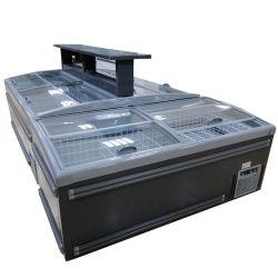 Congelatore commerciale dell'isola della visualizzazione della cassa del frigorifero del frigorifero per il verticale del supermercato