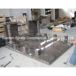 Europäischer kundenspezifischer Marmor/Granit-Grundstein/Finanzanzeige/Denkmal/Grabstein/Denkmal