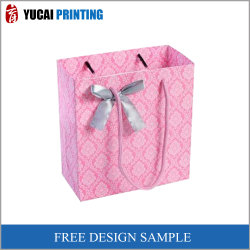 2019 Design de luxe Mesdames bien-aimée sac cadeau avec noeud de papier