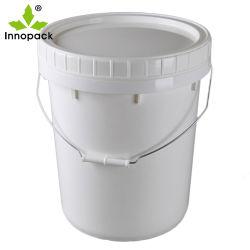 Kundenspezifische Plastikwanne des Wärmeübertragung-Drucken-20L mit Schrauben-Kappe