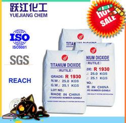 Het buiten Witte Pigment van het Dioxyde van het Titanium van het Proces van het Chloride van het Rutiel van de Verf van het Latex TiO2 TiO2 (R1930)