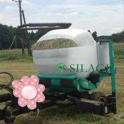 Branco 750mm X 25mic PE Agricultura Silage Film Bale Wrap Plastic