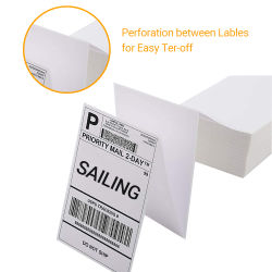 Preço grossista China direcionar o papel térmico Labeld Auto etiqueta adesiva Formato 4X6