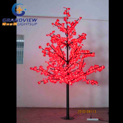 Rote LED-Farbanzeige mit Ahorn Tree Lights