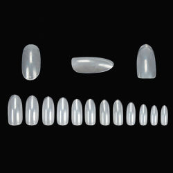 2016 Ventes chaud ovale acrylique claire pointe d'ongles nail art