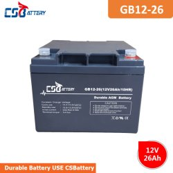 Torch를 위한 Csbattery 12V26ah SLA AGM Battery는 또는 찾는다 Light/Electrical Mosquito Racket/Rectifier