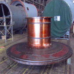Литой стальной шарик мельницу для измельчения сочных продуктов шаровой опоры головки блока цилиндров и торцевой крышки