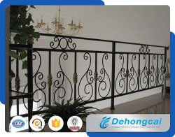 Безопасности железным балконом с покрытием из ПВХ ограждения / экономической железным балконом ограждения