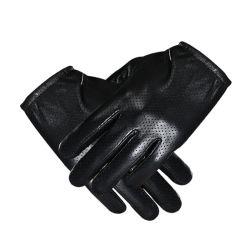 Winter-Kaschmir der Großhandelsmänner, der gutes echtes Schaffell-Schwarzesbrown-Kleid-lederne Handschuhe für das Auto-Fahren zeichnet