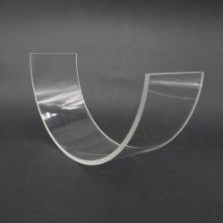 주문을 받아서 만들어진 석영 Ring/C 모양 파이렉스 유리 관 방열 붕규산 유리