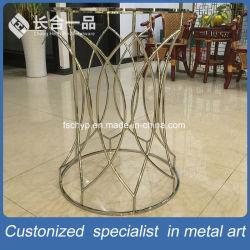 Зеркало заднего вида Gold 304# из нержавеющей стали настраиваемые круглый стол для приготовления чая и стекла