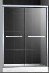 低価格のカスタマイズされたブラックアルミニウムプロファイル 3/8 インチ 10mm ガラスバイパスシャワー ドアエンクロージャ