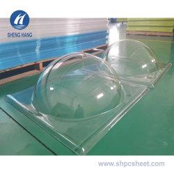 PC policarbonato Térmica de procesamiento de la hoja de la formación de tragaluz Domo