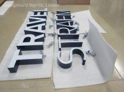 Zeichen der Harz-Gesichts-Großverkauf-Speicher-Vorderseite-3D bezeichnet Hersteller mit Buchstaben