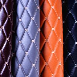 3D с вышитым искусственных синтетических PU ПВХ кожа для диван/CAR/двери/ЭБУ подушек безопасности/одежды/Стены /мебель