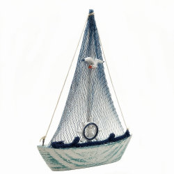Recuerdo de la isla don hecho a mano Material de madera Modelo de barco