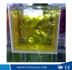 L'intérieur de haute qualité pour la décoration de bloc de verre jaune (G-B)
