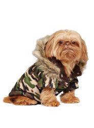 La Fausse Fourrure capot rogné Pet Vêtements Vêtements Veste chien hiver manteau chaud