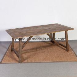 Tabella pranzante rettangolare di legno del tenone della struttura classica antica del mortasare