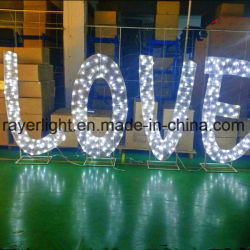 Amor LED Design Decoração de Casamento Jardim de luzes luzes decorativas