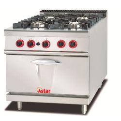 4 つのストーブおよびキャビネットが付いている商業台所装置の調理範囲 高効率ガス範囲