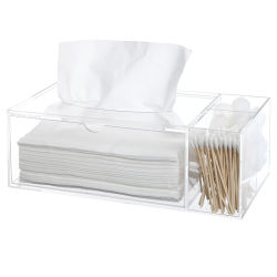 Suporte de tecido grosso guardanapo Rectangular Acrílico Caixa de tecidos