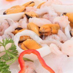 Mezcla de mariscos congelados