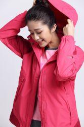 소녀 겨울을%s 한 벌을 체중을 줄이는 100%년 폴리에스테 hoodie 먼 적외선 난방은 여자를 위한 격렬한 옥외 의류를 입는다