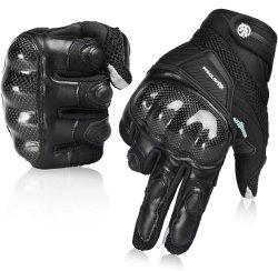 Guanti del motociclo per i guanti di azionamento di corsa fuori strada respirabili dello schermo di tocco del riempimento di protezione dell'articolazione dei guanti della motocicletta della donna degli uomini