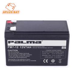 Sellada recargable AGM de Plomo Ácido UPS Solar de ciclo profundo 12V7ah baterías