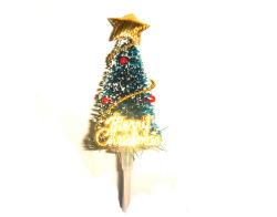 Bonita decoración de pastel de Navidad