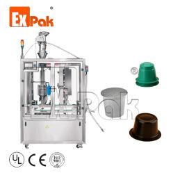 工場は生物分解性のCompostableコーヒーにNespressoのKコップのLavazza Dolceの活気のための満ちるシーリングパッキング機械装置を要約させる