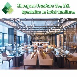 주문화 호텔 대중음식점 식당 바 다방을%s 현대 나무로 되는 직물 가죽 테이블 의자 가구
