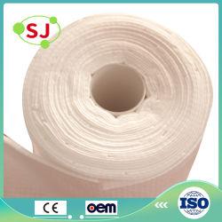 Fabricado en China Spunlace Non-Woven Tela 100% algodón toalla rollo