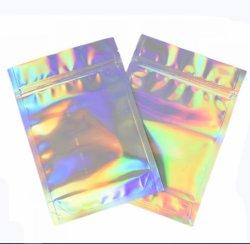 Laser 알루미늄 호일 Resealable 가치 팩은 Zip 자물쇠 부대 홀로그램 각자 물개 지퍼 디지털 플레스틱 포장 부대를 밀봉해 플라스틱 주문 방벽 밥 각자를 위로 서 있다