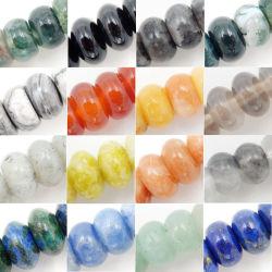 Commerce de gros de perles de pierres semi précieuses cocarde (4*6mm et 5*8mm)