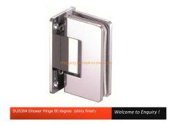 90 grados de alta calidad de la bisagra de vidrio de acero inoxidable baño ducha de vidrio de la bisagra de la abrazadera de bisagra de puerta