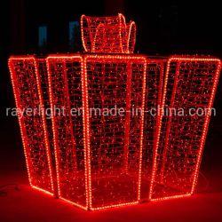 Gran piscina Decoración de Navidad 3D Caja de regalo de Navidad de la luz de Motif